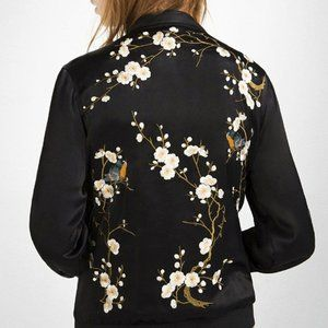 Zara Embroidered Bomber Jacket